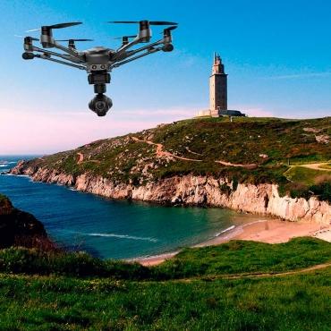fotografía con drones